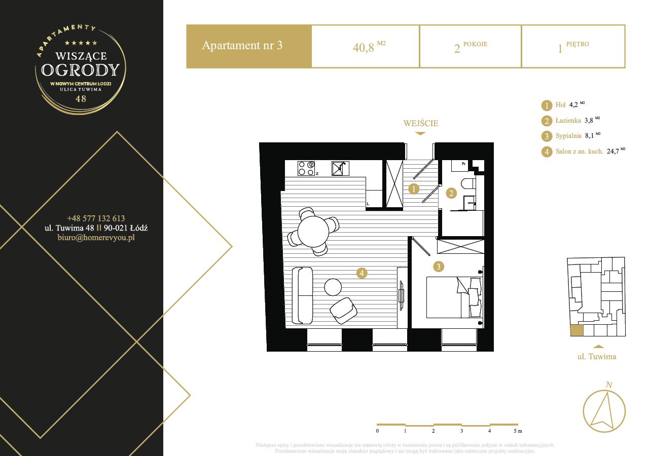 1 piętro, apartament nr 3