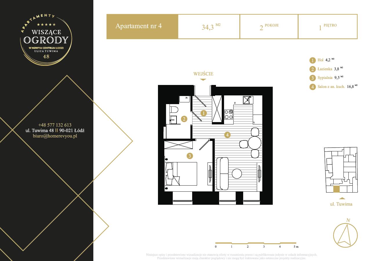 1 piętro, apartament nr 4