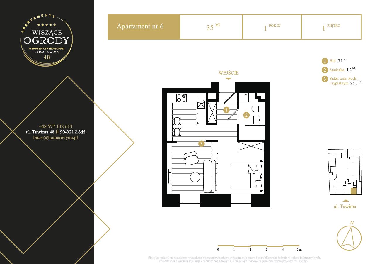 1 piętro, apartament nr 6