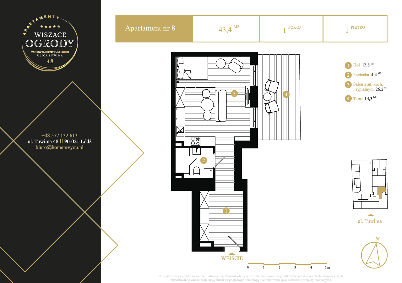 1 piętro, apartament nr 8