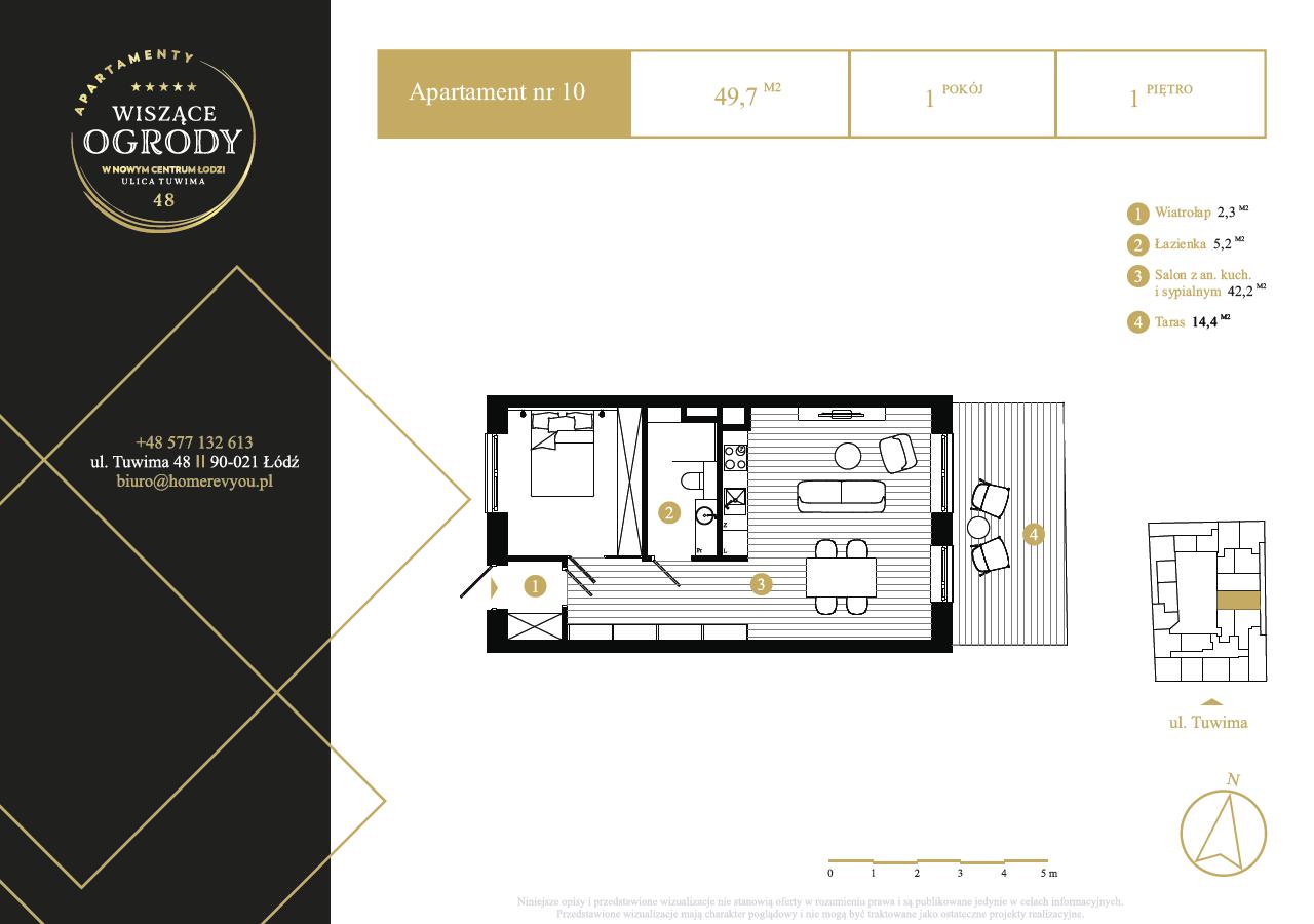 1 piętro, apartament nr 10