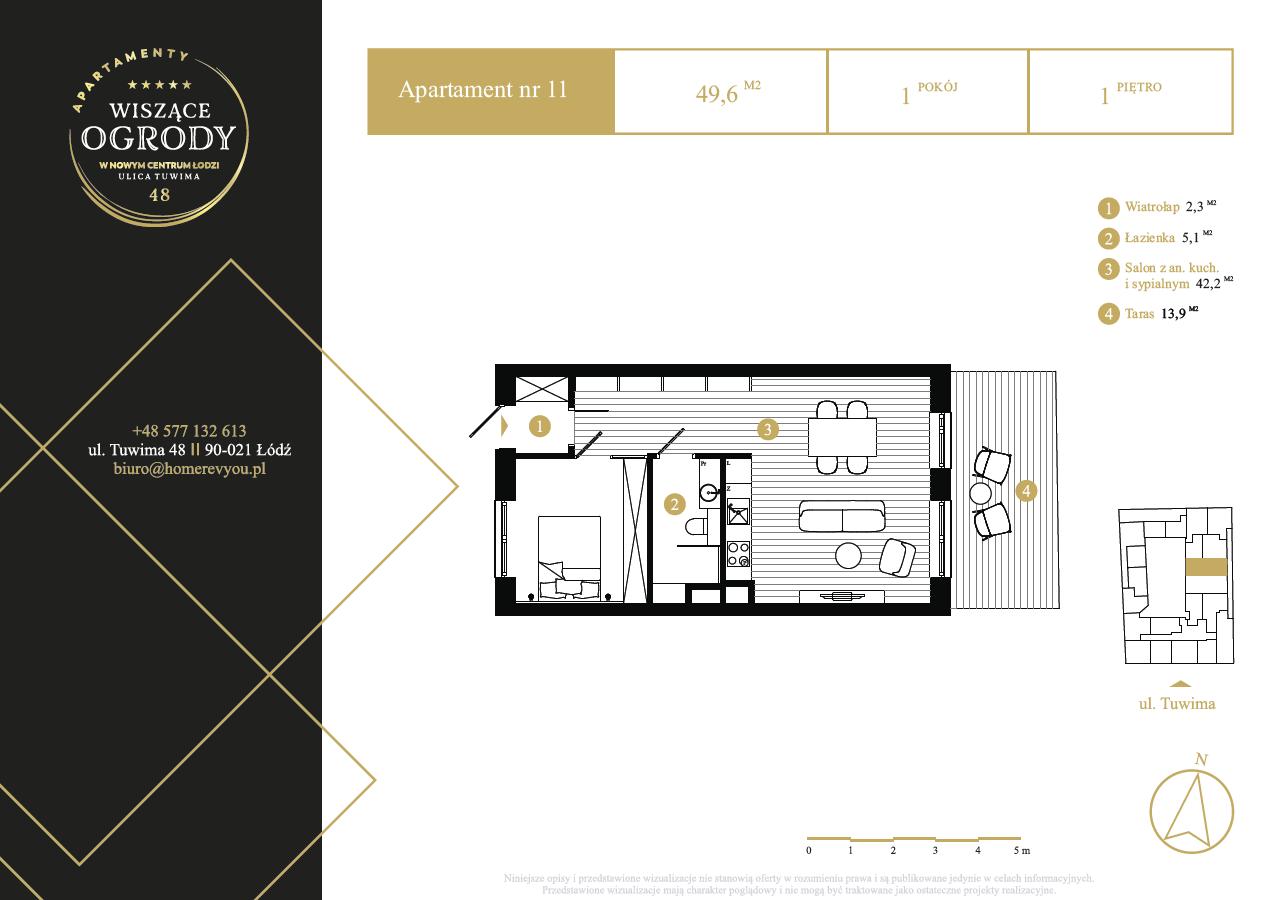 1 piętro, apartament nr 11