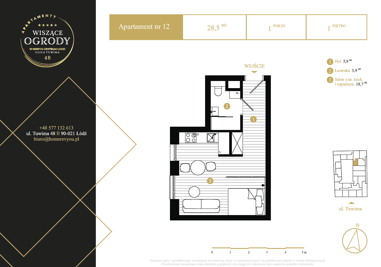 1 piętro, apartament nr 12