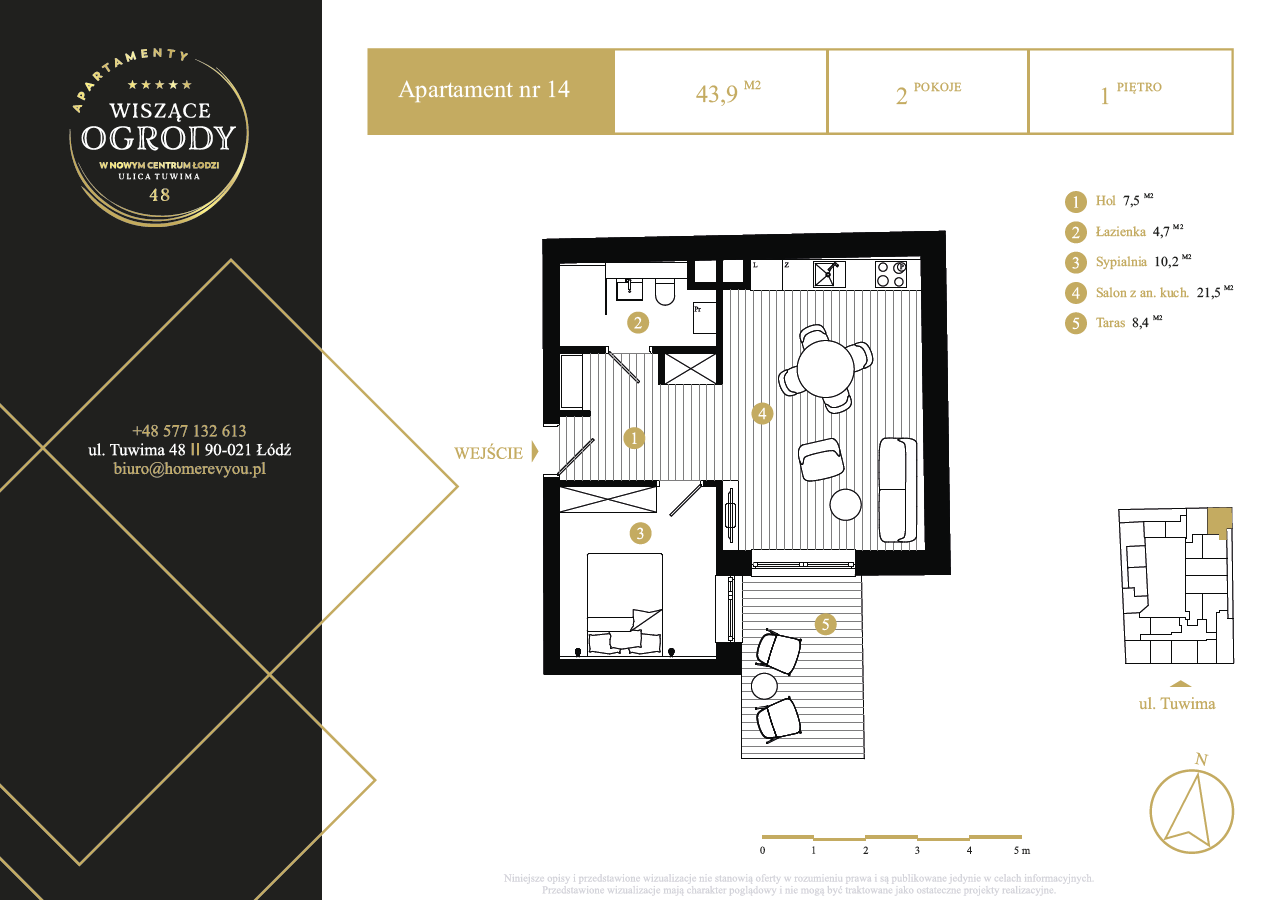 1 piętro, apartament nr 14