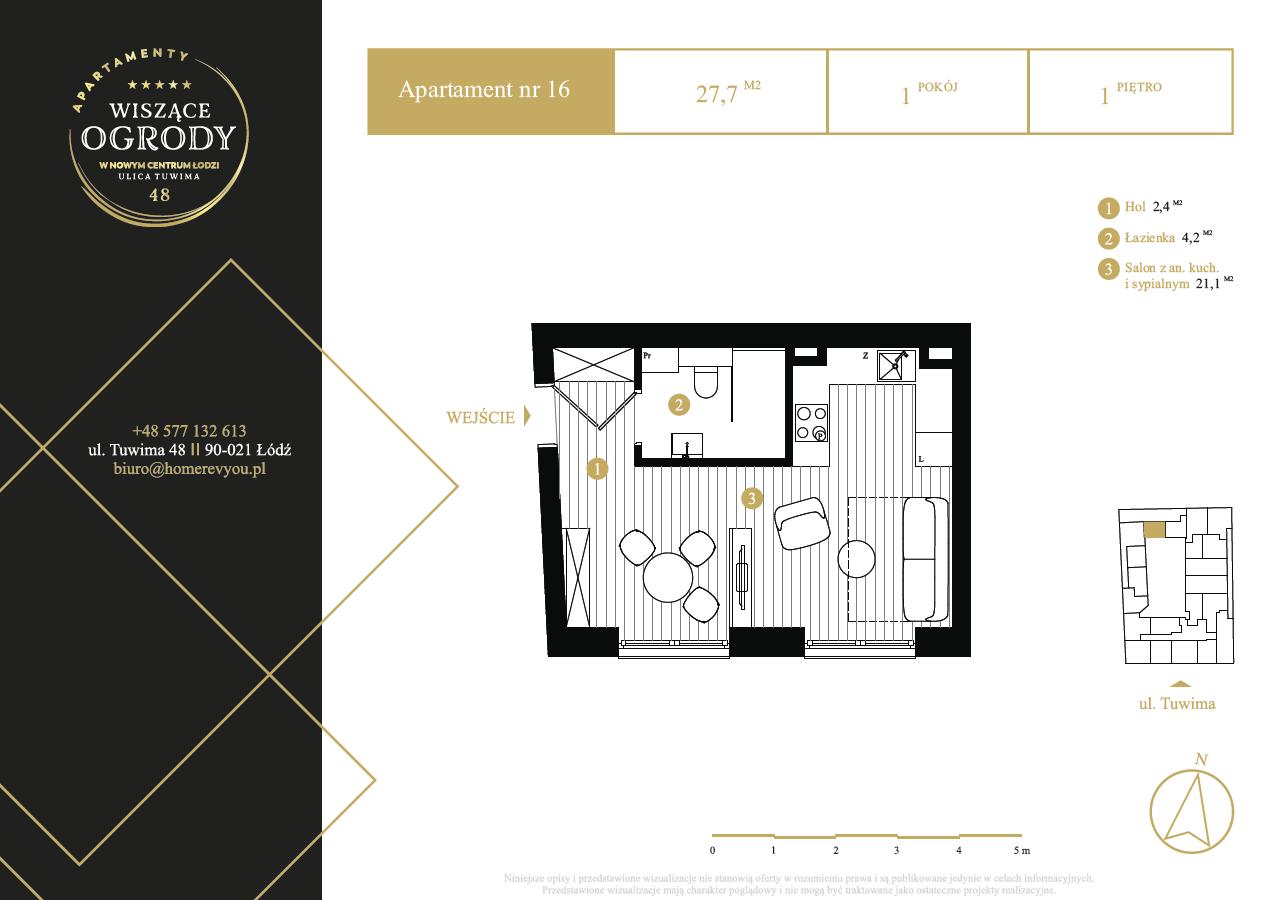 1 piętro, apartament nr 16