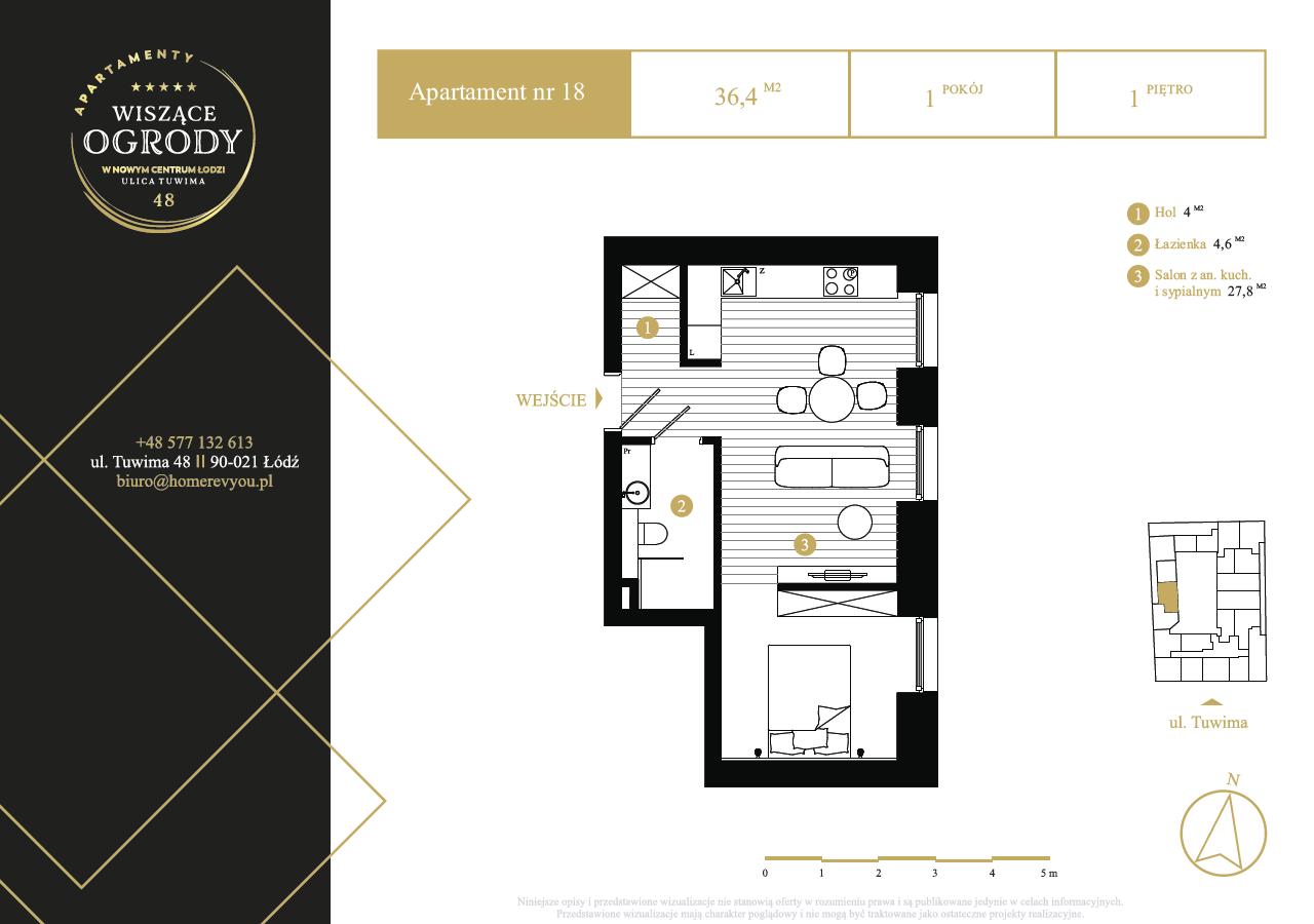 1 piętro, apartament nr 18