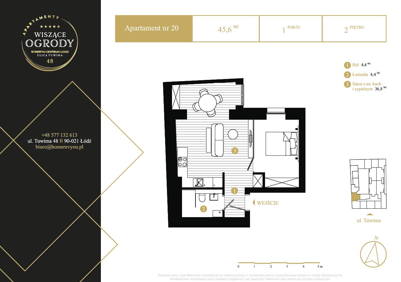 2 piętro, apartament nr 20
