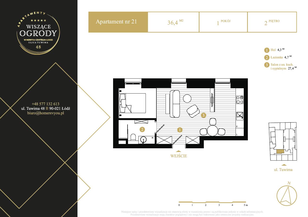 2 piętro, apartament nr 21