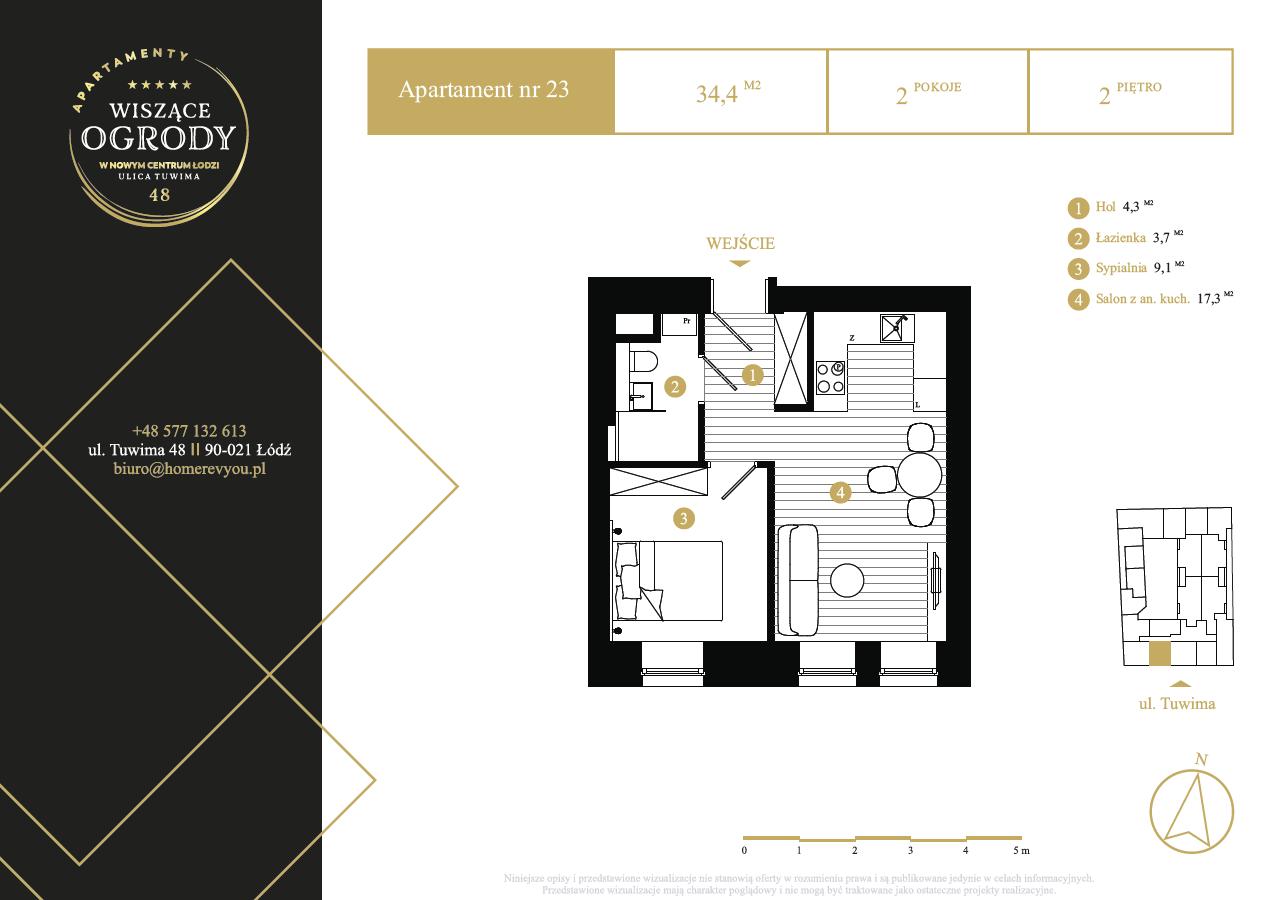 2 piętro, apartament nr 23