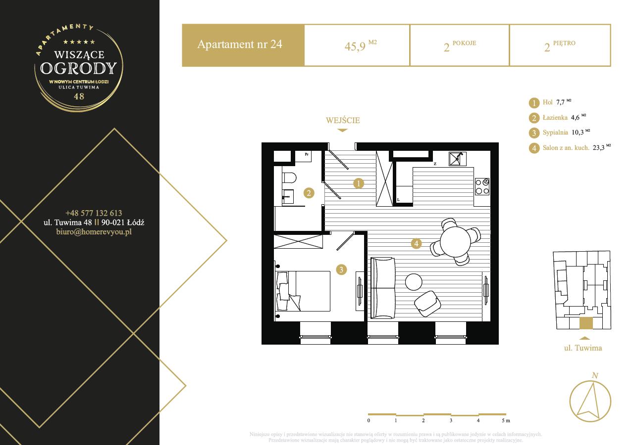 2 piętro, apartament nr 24