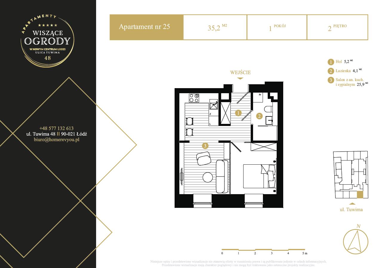 2 piętro, apartament nr 25