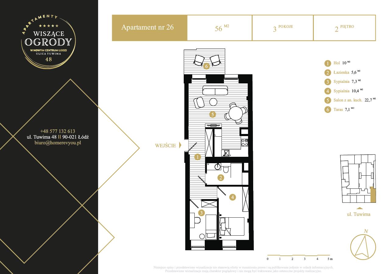 2 piętro, apartament nr 26