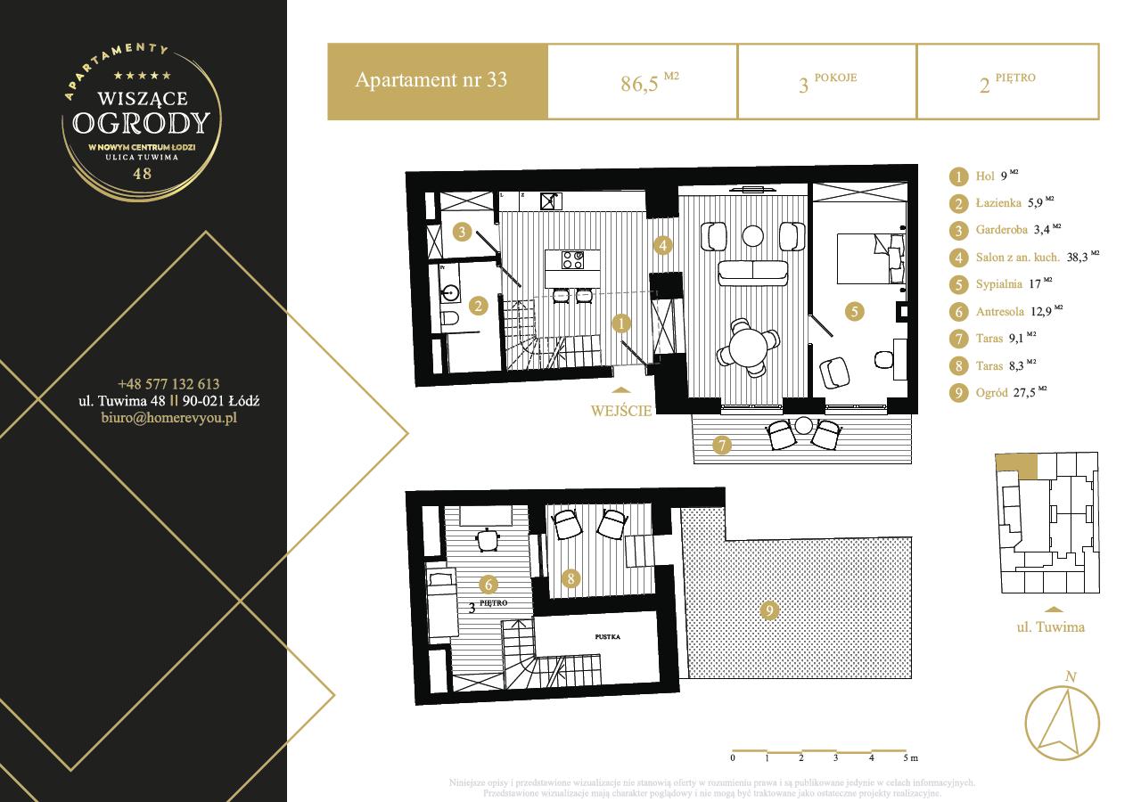2 piętro, apartament nr 33