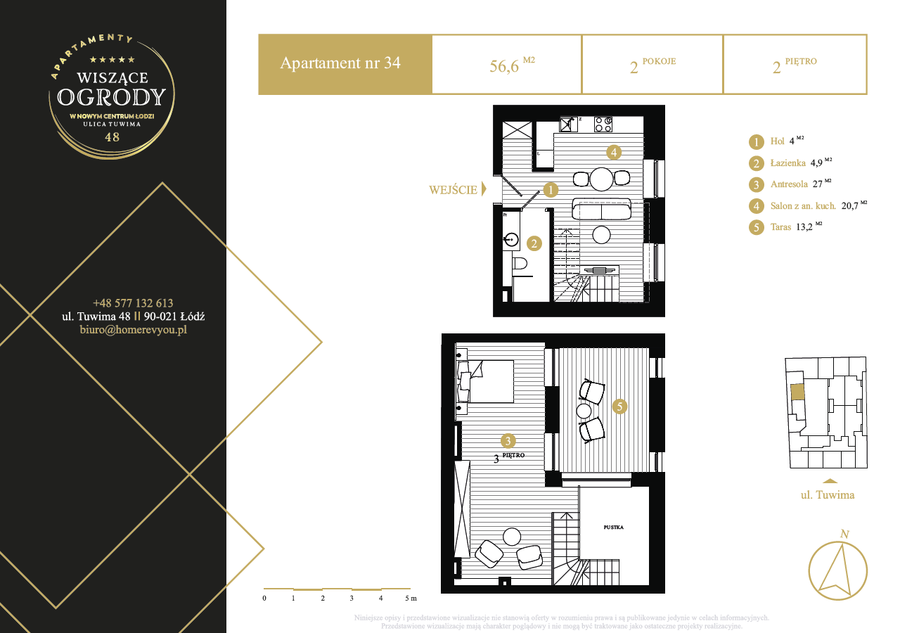 2 piętro, apartament nr 34