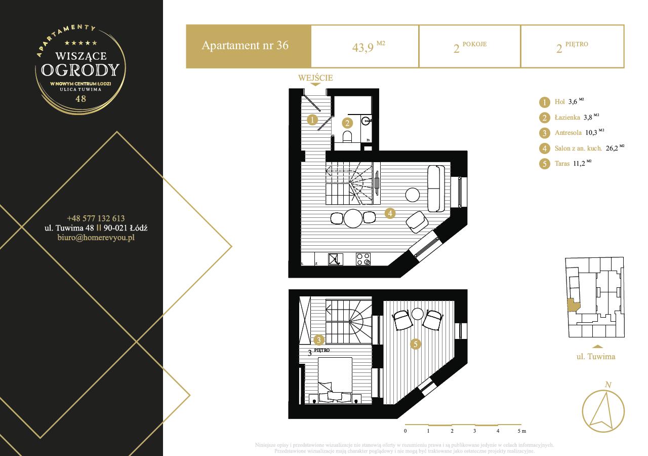 2 piętro, apartament nr 36