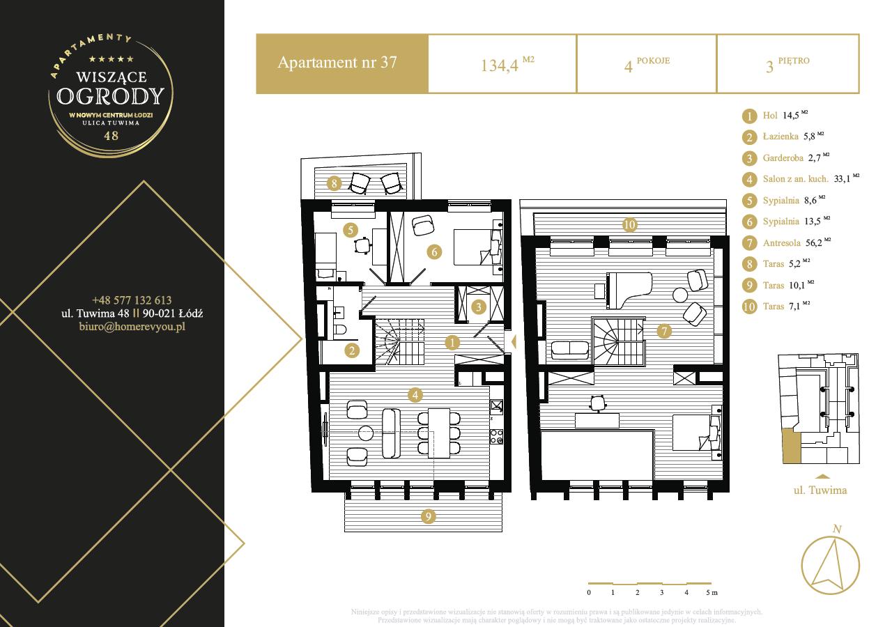 3 piętro, apartament nr 37
