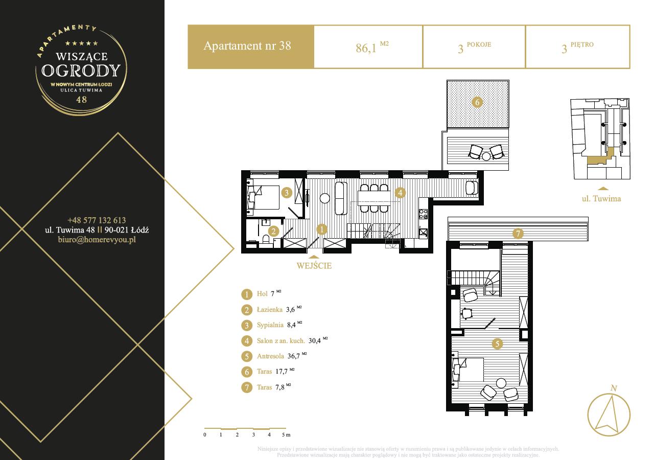 3 piętro, apartament nr 38