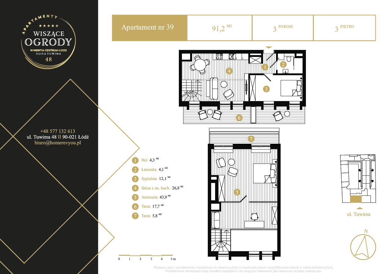 3 piętro, apartament nr 39