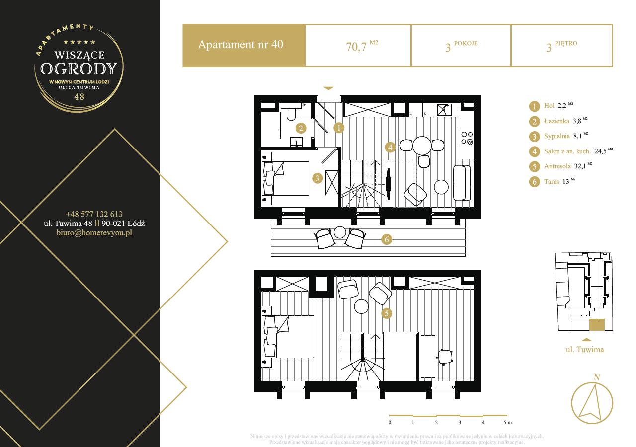 3 piętro, apartament nr 40