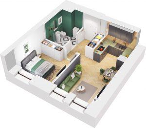 Wiszące Ogrody Apartament 4